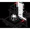 Whirlpool Tvaika nosūcējs Iebūvējams WHBS 62F LT K Melna Wall-mounted Elektroniska Frontal