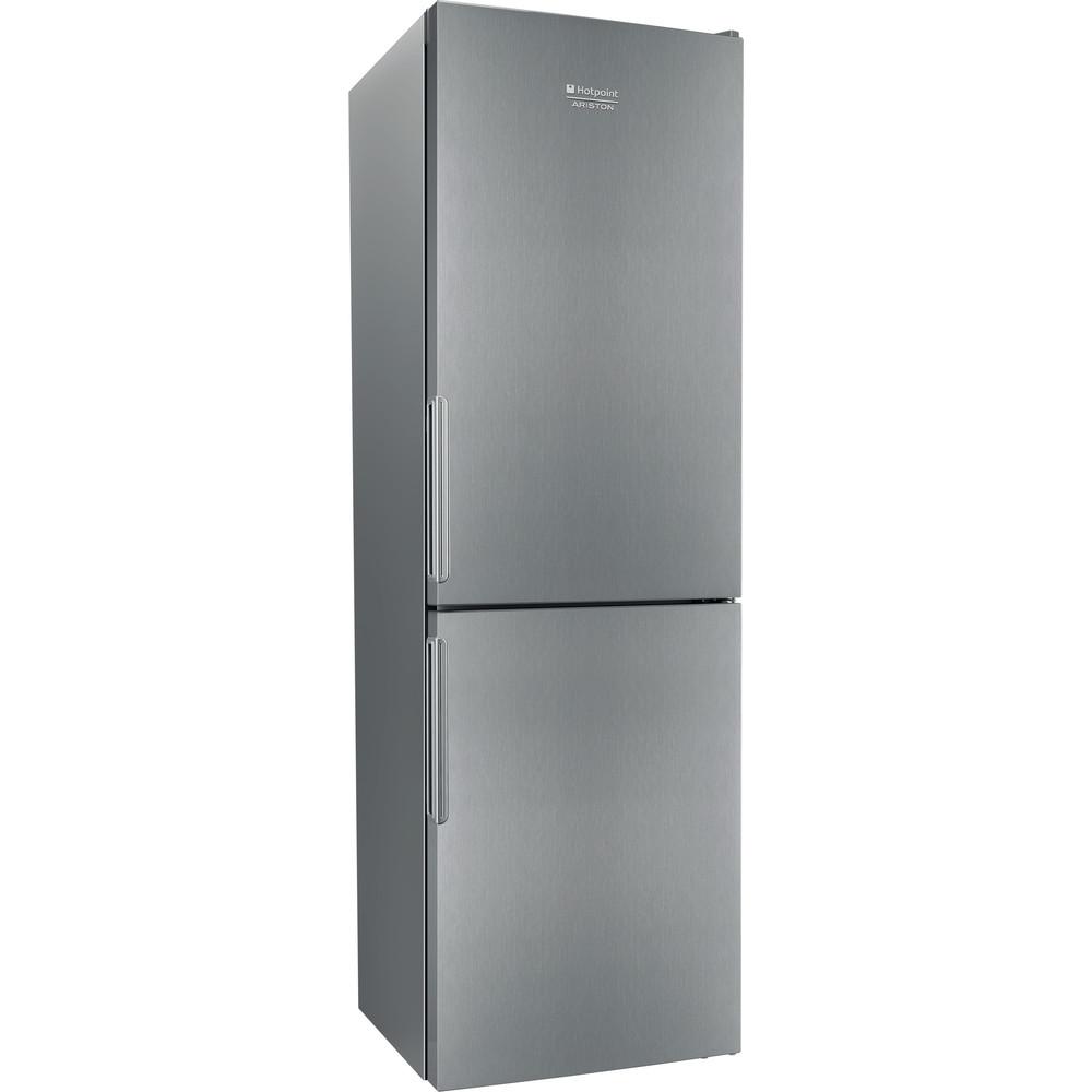 Hotpoint_Ariston Комбинированные холодильники Отдельностоящий HF 4181 X Нержавеющая сталь 2 doors Perspective