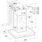 Indesit Afzuigkap Ingebouwd IHBS 6.5 LM X Rvs Wandmodel Mechanisch Technical drawing