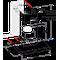 Indesit Dampkap Inbouw IHBS 6.5 LM X Inox Wandmodel Mechanisch Technical drawing