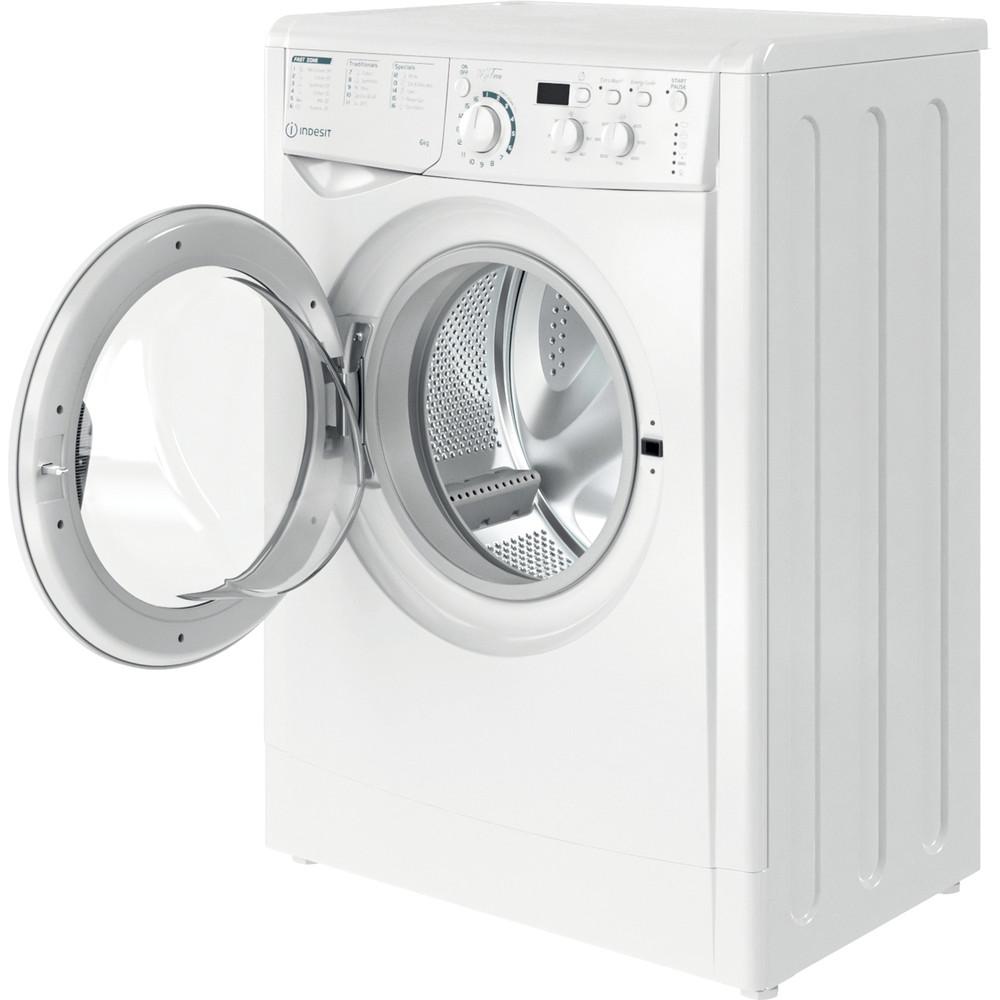 Indesit Washing machine Free-standing EWSD 61251 W UK N White Front loader F Perspective open