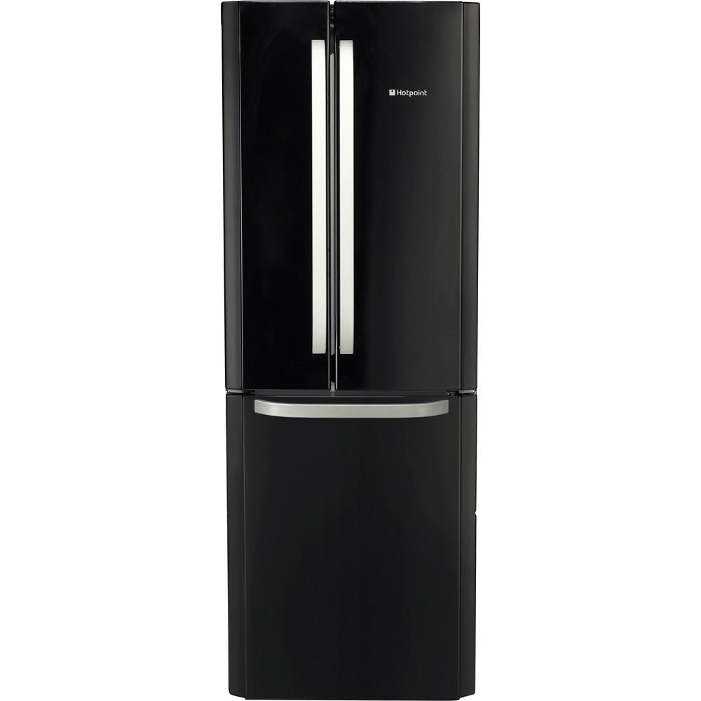 Hotpoint Fridge-Freezer Combination Free-standing FFU3D K 1 Black 2 doors Frontal