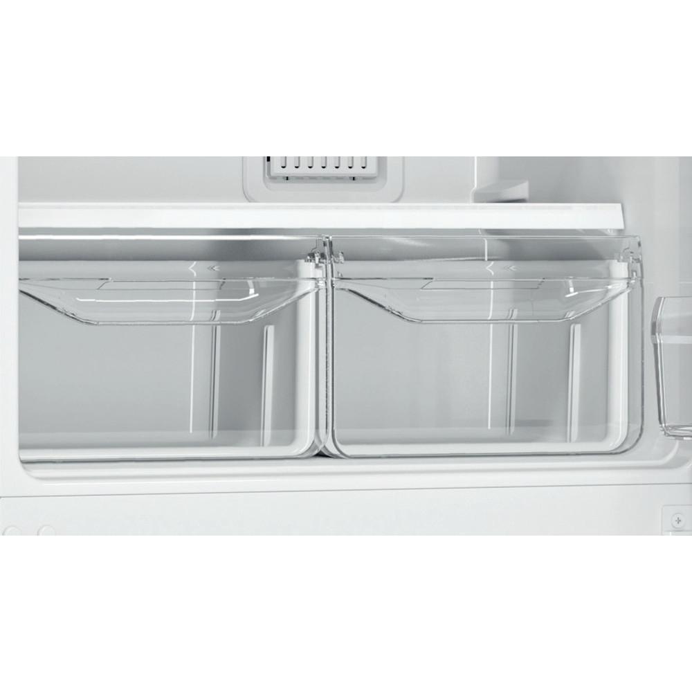 Indesit Холодильник с морозильной камерой Отдельностоящий DF 4160 E Розово-белый 2 doors Drawer