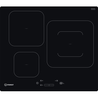 Indesit Encimera IS 33Q60 NE Negro Induction vitroceramic Frontal