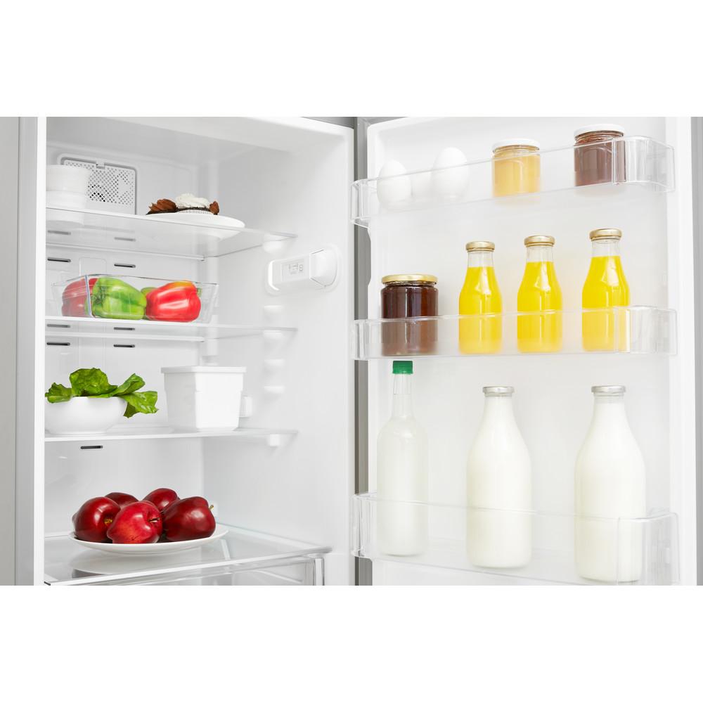 Indesit Kombinovaná chladnička s mrazničkou Voľne stojace XIT8 T1E X Nerez 2 doors Lifestyle detail