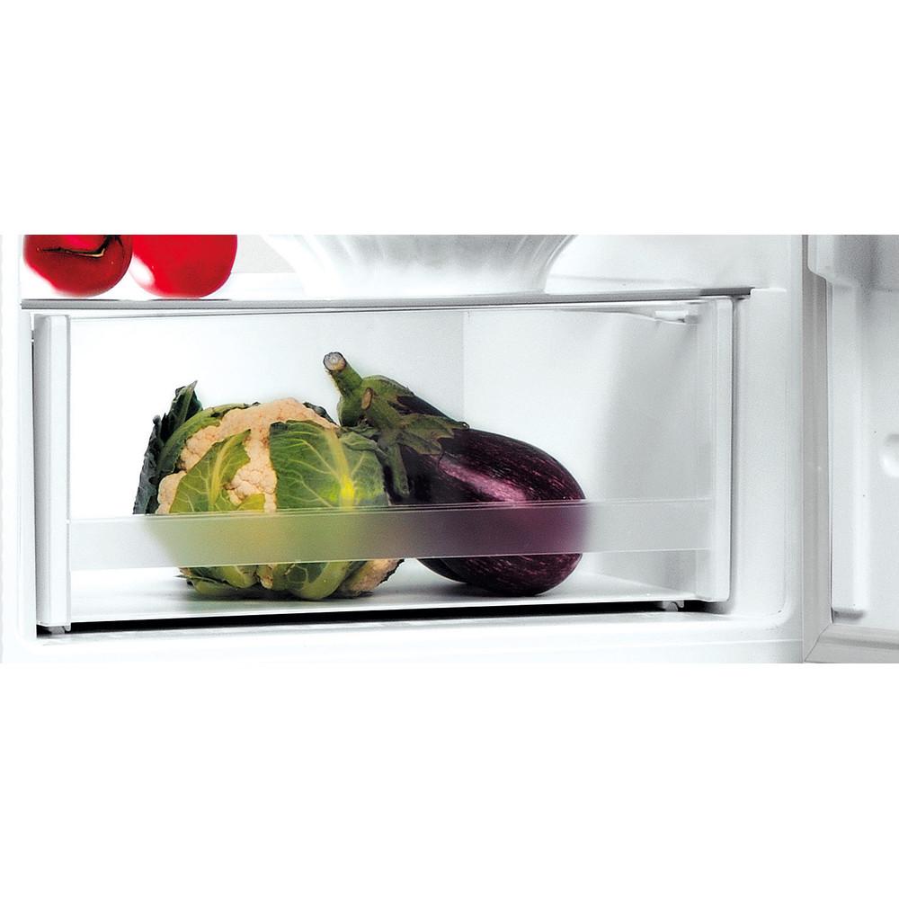 Indesit Køleskab/fryser kombination Fritstående LI8 SN1E W Hvid 2 doors Drawer
