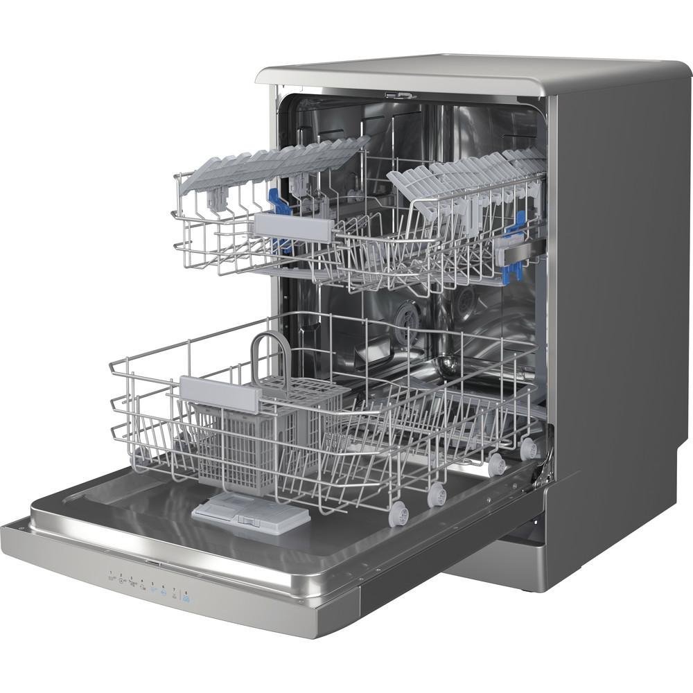 Indesit Mašina za pranje posuđa Samostojeći DFO 3C26 X Samostojeći E Perspective open