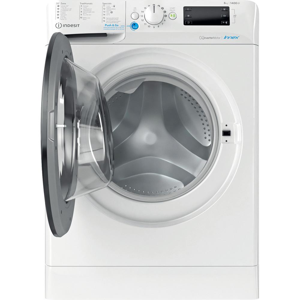 Indesit Wasmachine Vrijstaand BWEBE 81484X WK N Wit Voorlader C Frontal open