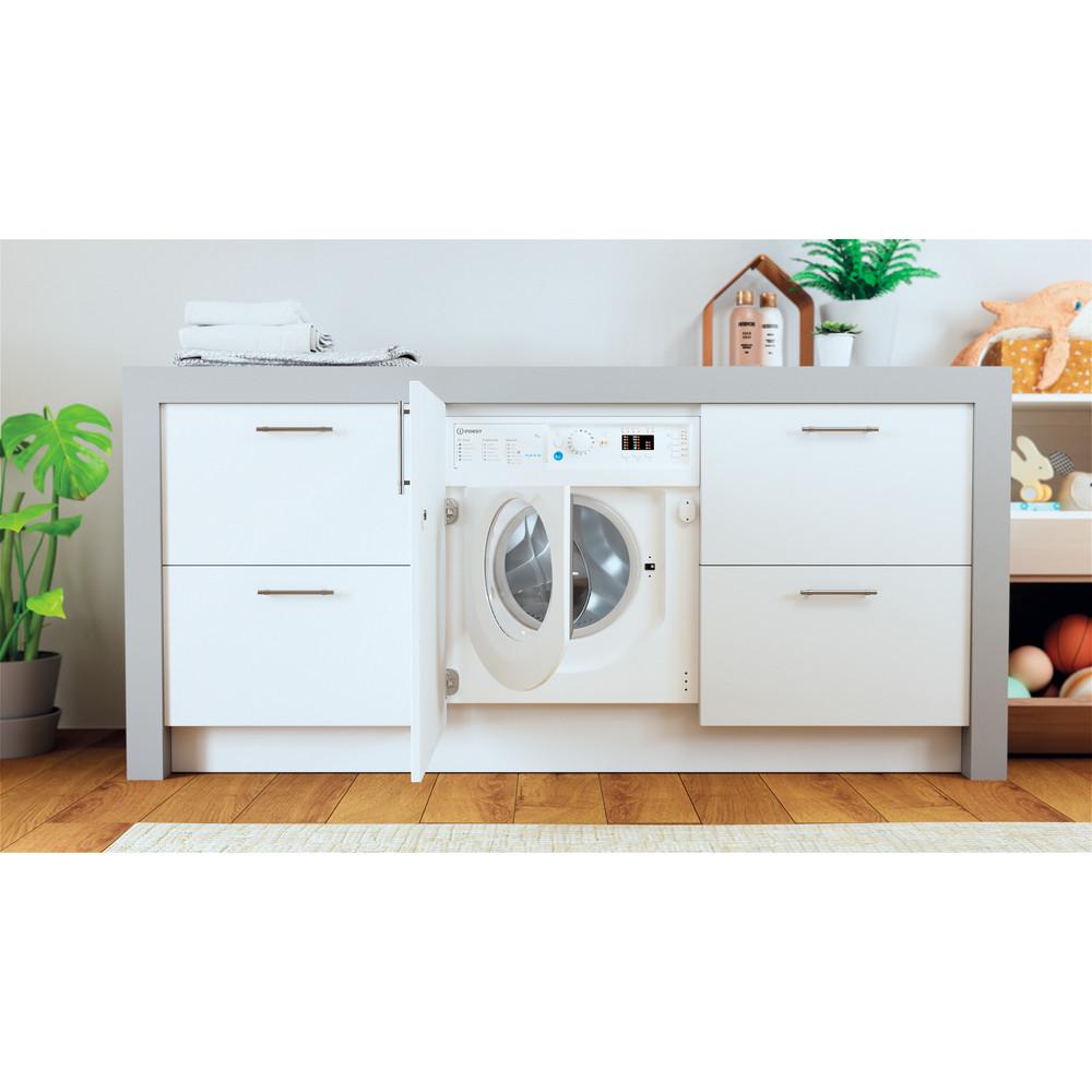 Indesit Washing machine Built-in BI WMIL 71252 UK N White Front loader E Lifestyle frontal open