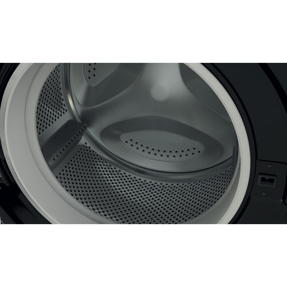 Indesit Washing machine Free-standing BWE 91483X K UK N Black Front loader D Drum