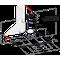Indesit Afzuigkap Ingebouwd IHPC 9.4 LM X Rvs Wandmodel Mechanisch Technical drawing