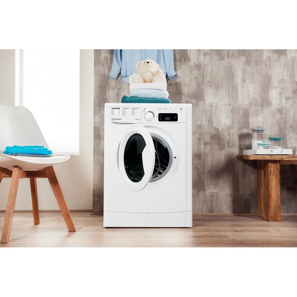 Indesit Tvättmaskin med torktumlare Fristående EWDE 751451 W EU N White Front loader Lifestyle frontal open