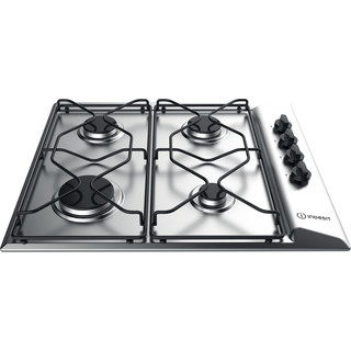 Indesit Encimera PAAI 642 IX/I WE Inox Gas Frontal_Top_Down