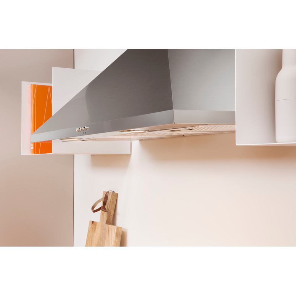 Indesit HOOD Built-in IHPC 9.4 AM X Inox Wall-mounted Mechanical Lifestyle perspective