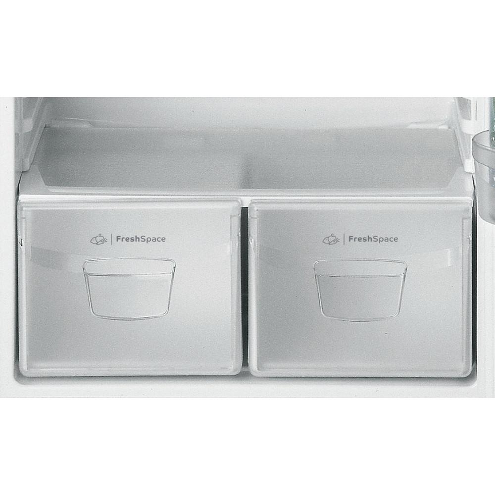 Indesit Combiné réfrigérateur congélateur Pose-libre TEAAN 5 S 1 Argent 2 portes Drawer