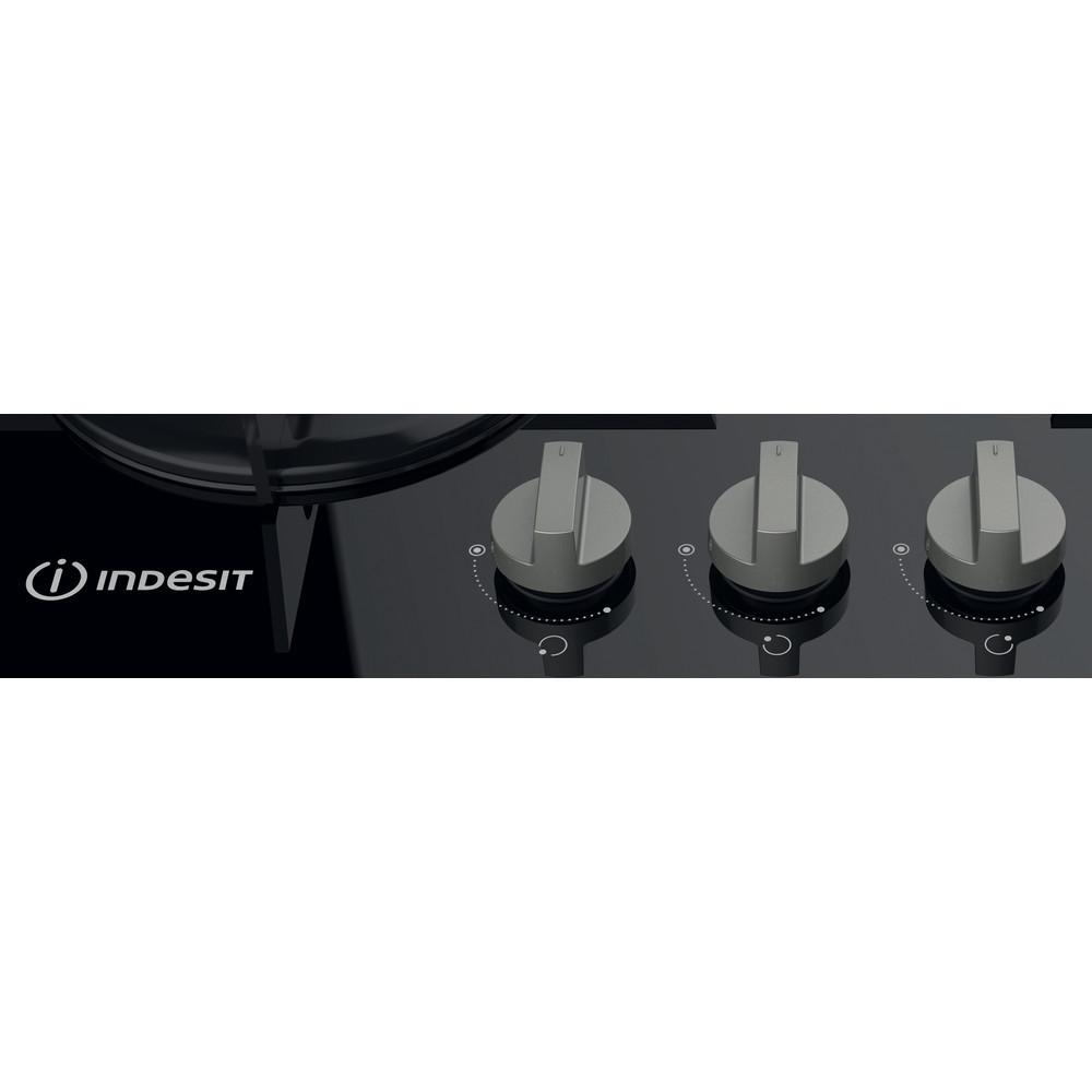 Indesit Piano cottura PR 642 /I (BK) Nero GAS Control panel