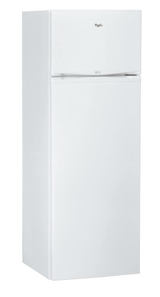 Whirlpool Combiné réfrigérateur congélateur Pose-libre WTE2510 W Blanc 2 portes Perspective