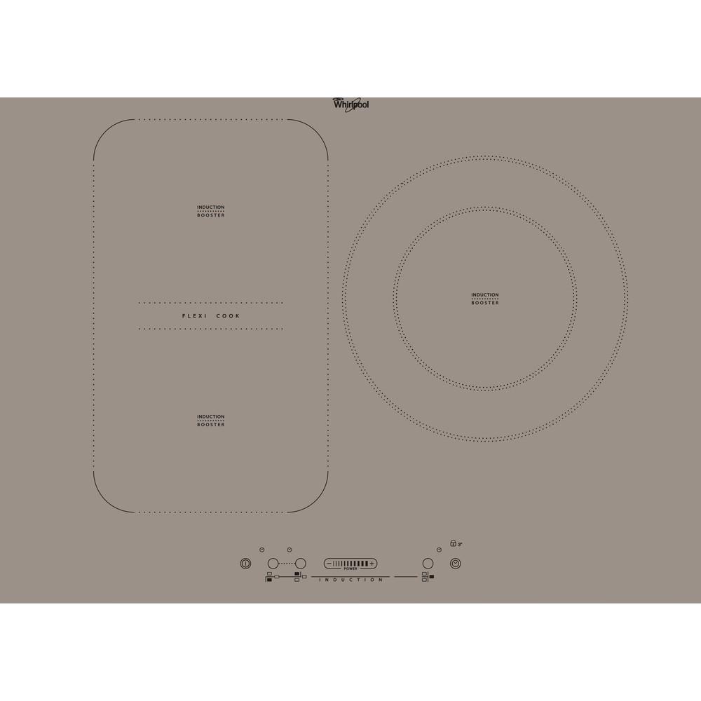 Placa de inducción Whirlpool - ACM 807/BF/S