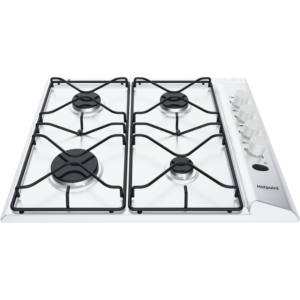 Hotpoint HOB PAS 642 /H(WH) White GAS Frontal_Top_Down