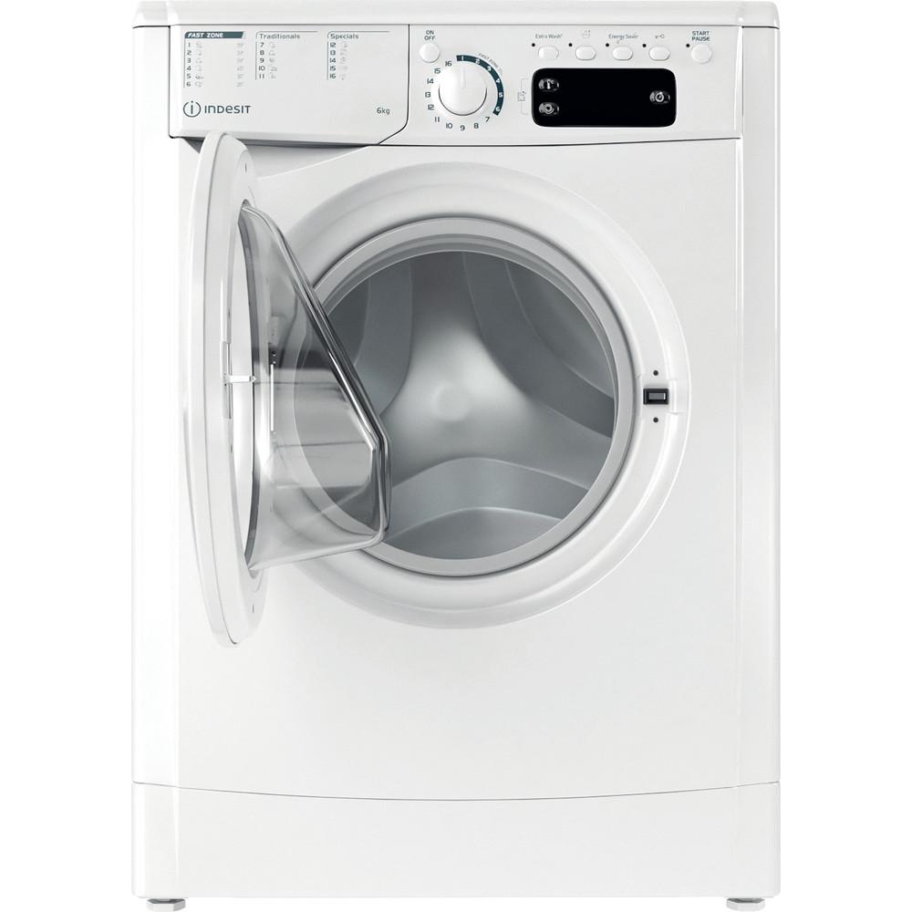 Indesit Waschmaschine Freistehend EWE 61251E W EU N Weiß Frontlader F Frontal open