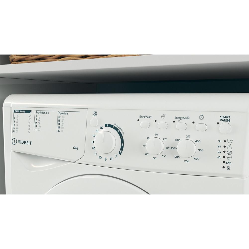 Indesit Перална машина Свободностоящи EWSC 61251 W EU N Бял Предно зареждане F Lifestyle control panel