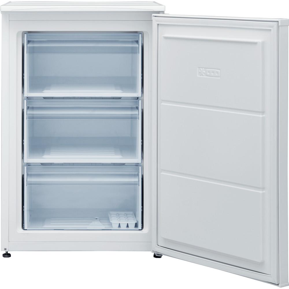 Indesit Congelador Libre instalación I55ZM 111 W Blanco Perspective open