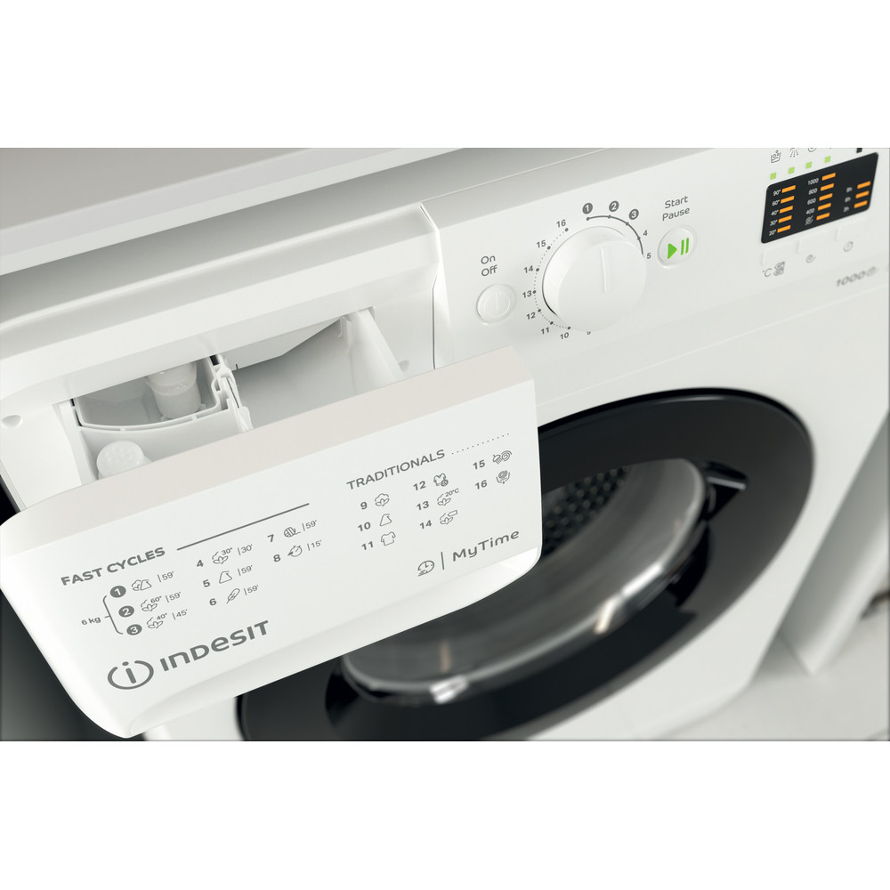 Indesit Пральна машина Соло OMTWSA 61053 WK EU Білий Front loader A+++ Drawer