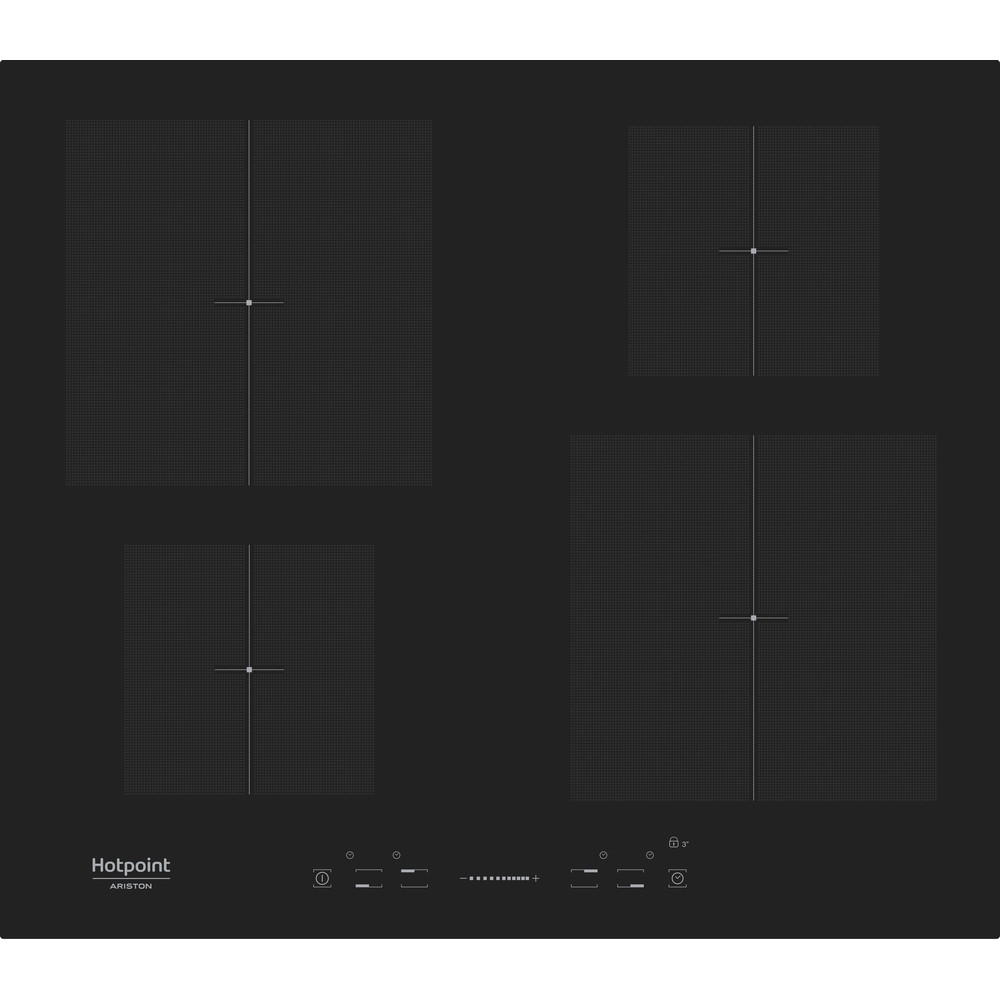 Hotpoint_Ariston Варочная поверхность KIS 640 C Черный Induction vitroceramic Frontal