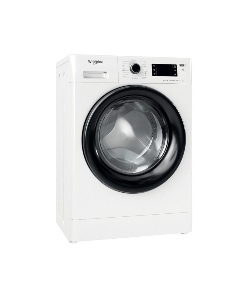 Whirlpool Maşină de spălat rufe De sine statator FWSG 61282 BV EE N Alb Încărcare frontală E Perspective
