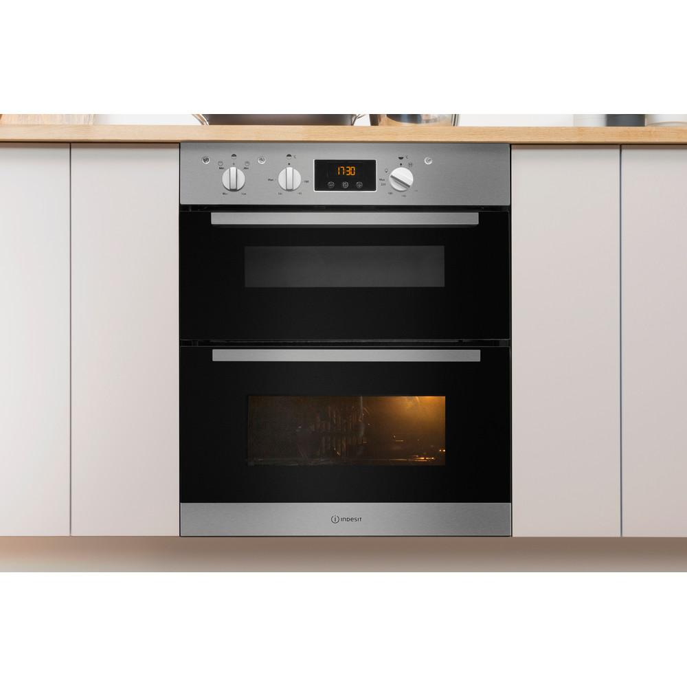 Indesit Double oven IDU 6340 IX Inox B Lifestyle frontal