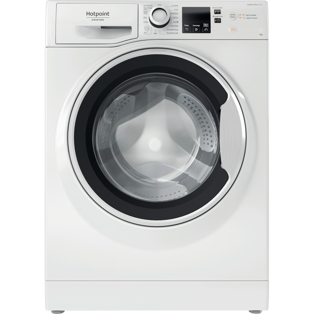 Hotpoint_Ariston Lave-linge Pose-libre NSH843CWWFR N Blanc Lave-linge frontal A+++ Frontal