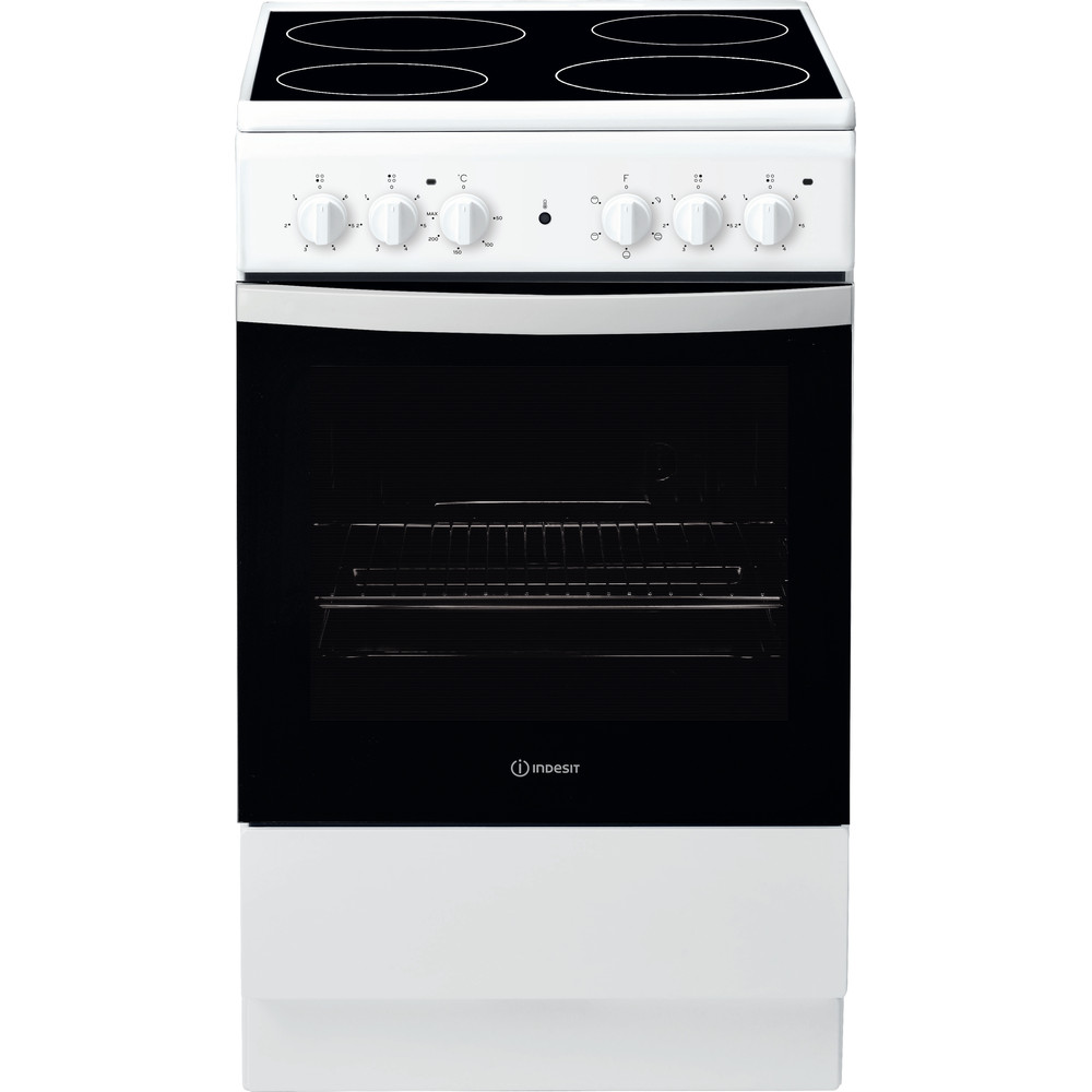 Indesit Cooker IS5V4KHW/UK White Electrical Frontal