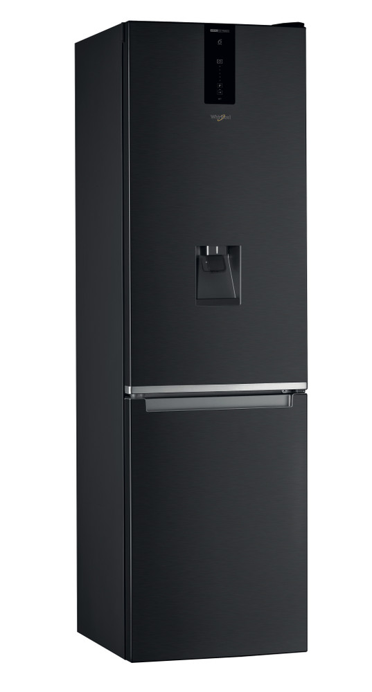 Whirlpool Fridge/freezer combination Samostojeća W7 921O K AQUA Crna 2 vrata Perspective