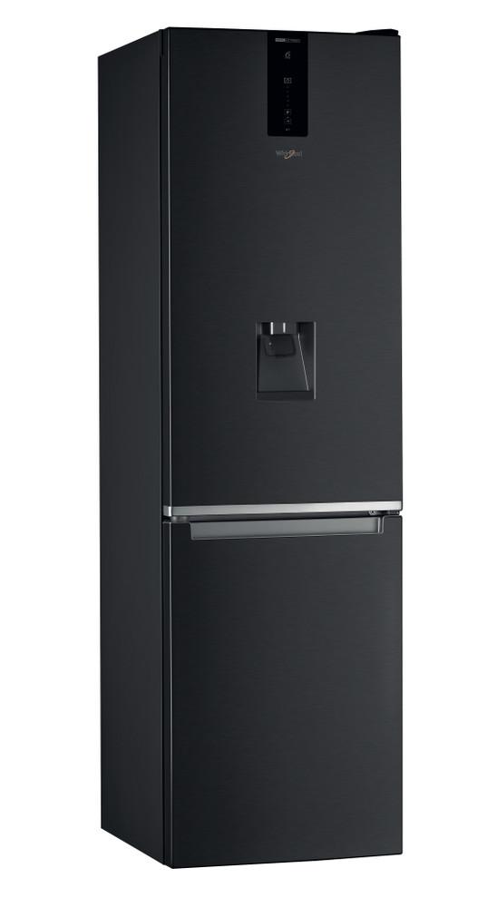 Whirlpool Racitor-congelator combinat De sine statator W7 921O K AQUA Negru 2 doors Perspective