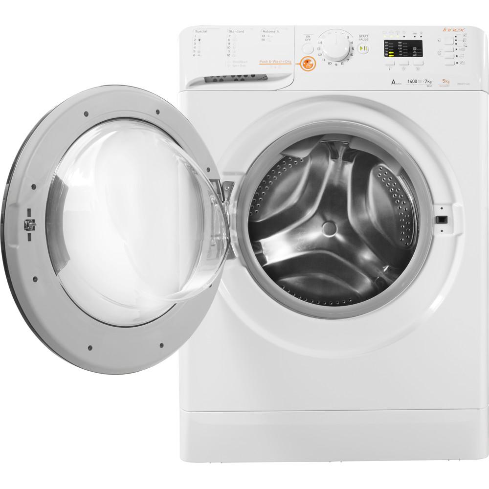 Indesit Pračka se sušičkou Volně stojící XWDA 751480X WSSS EU Bílá Front loader Frontal open