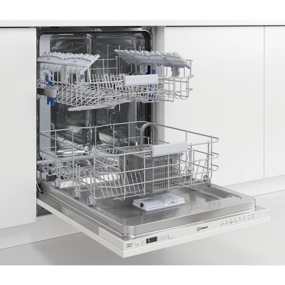Indesit Vaatwasser Ingebouwd DIC 3C24 Volledig geïntegreerd E Lifestyle perspective open