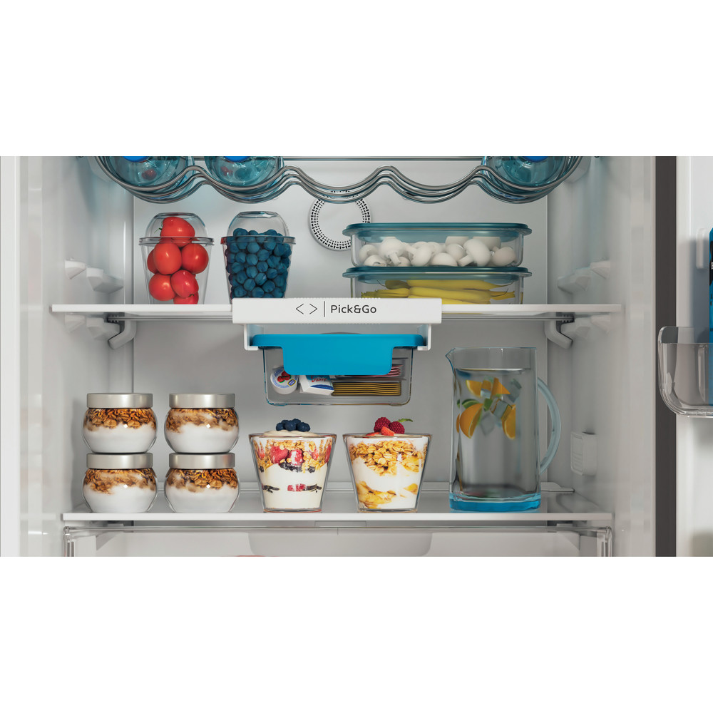 Indesit Συνδυασμός ψυγείου/καταψύκτη Ελεύθερο INFC9 TT33X Inox 2 doors Lifestyle detail