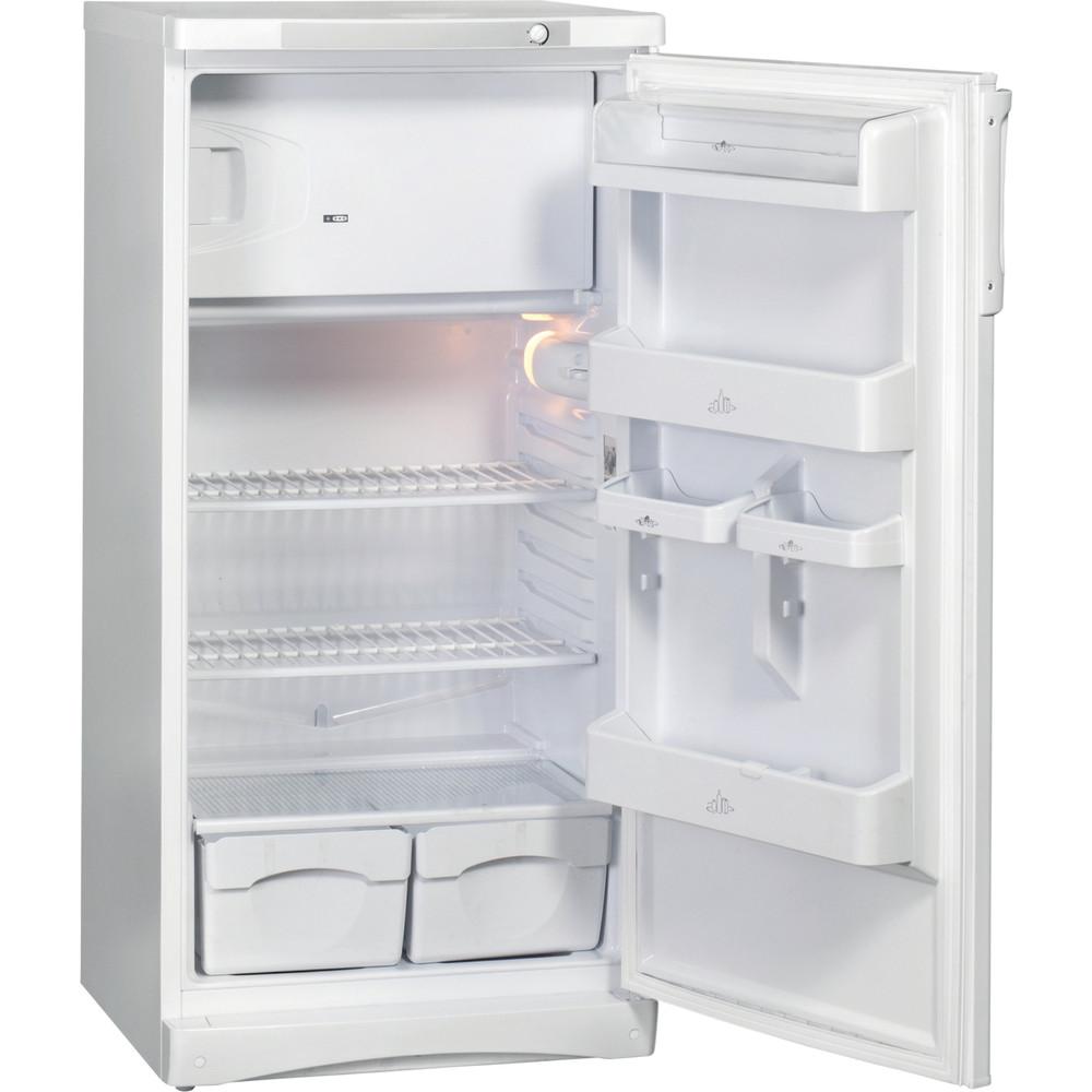 Indesit Холодильник Отдельностоящий ITD 125 W Белый Perspective open