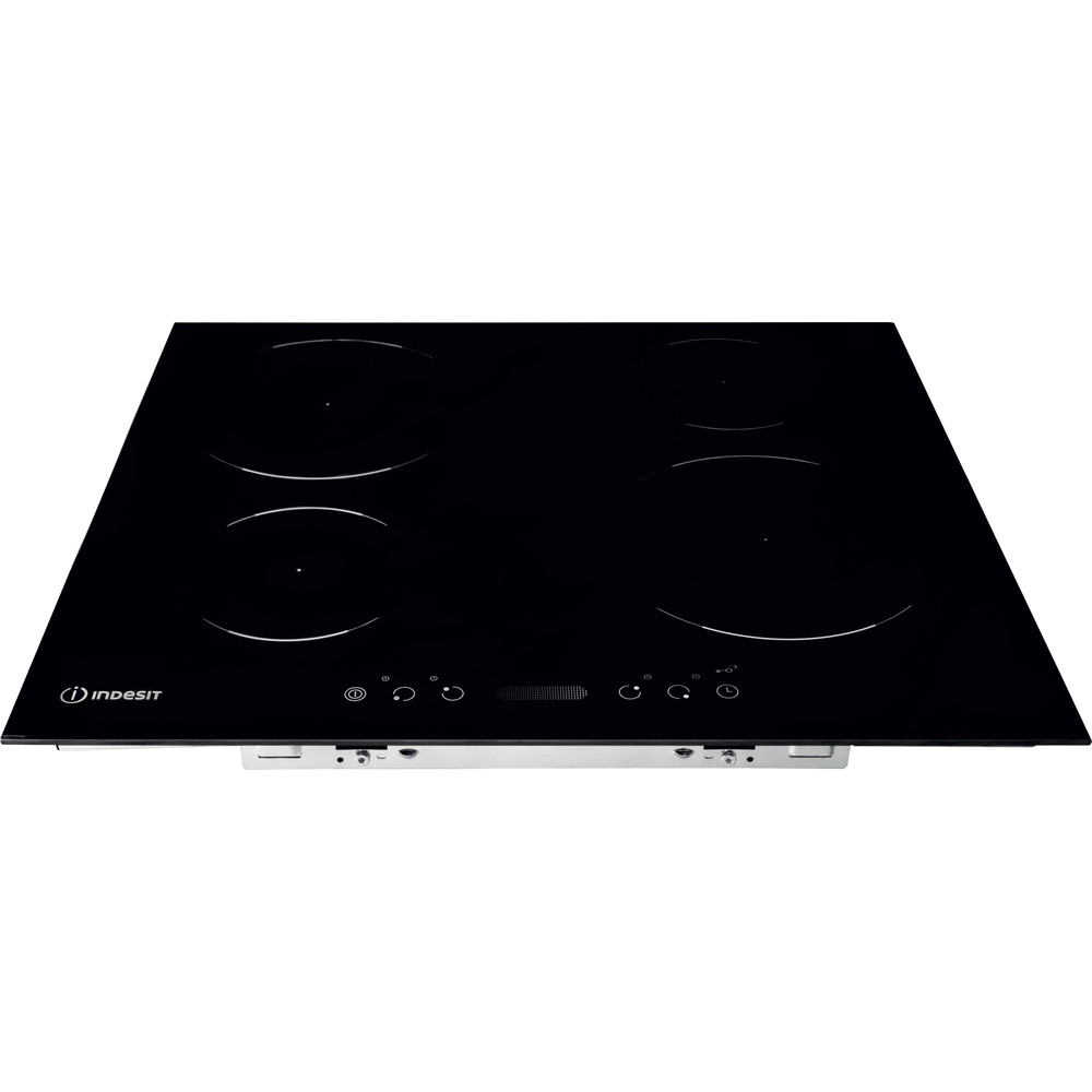 Indesit Piano cottura VIS 640 C Nero Induction vitroceramic Frontal top down