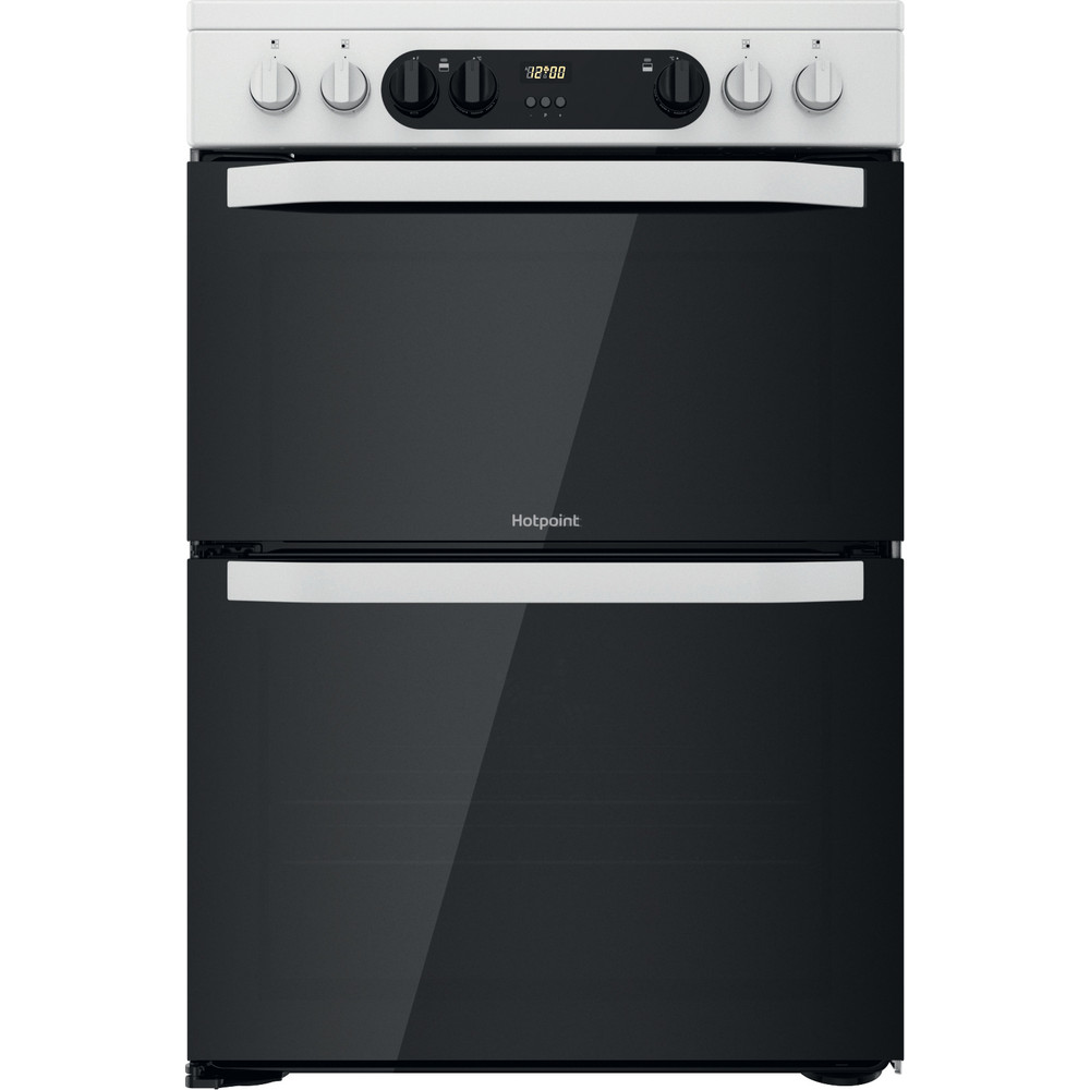 Hotpoint Double Cooker HDM67V9CMW/U White A Frontal