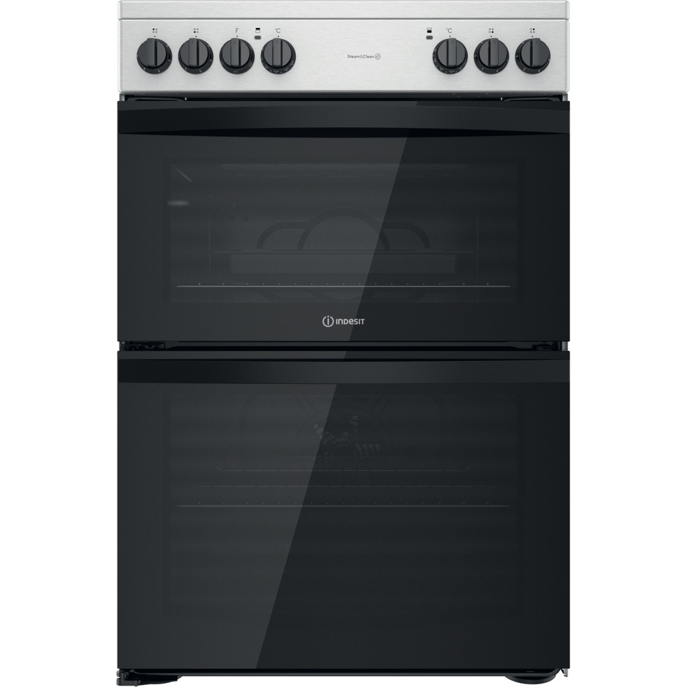 Indesit Double Cooker ID67V9HCCX/UK Inox A Frontal