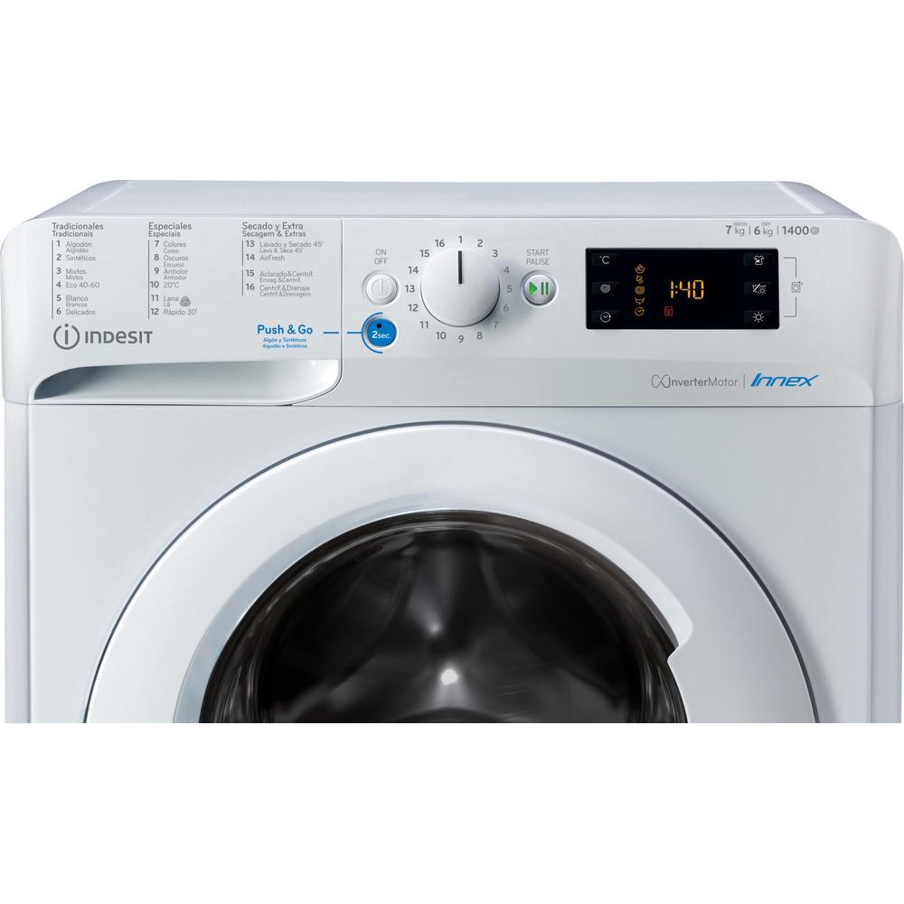 Indesit Lavadora secadora Libre instalación BDE 761483X W SPT N Blanco Cargador frontal Control panel