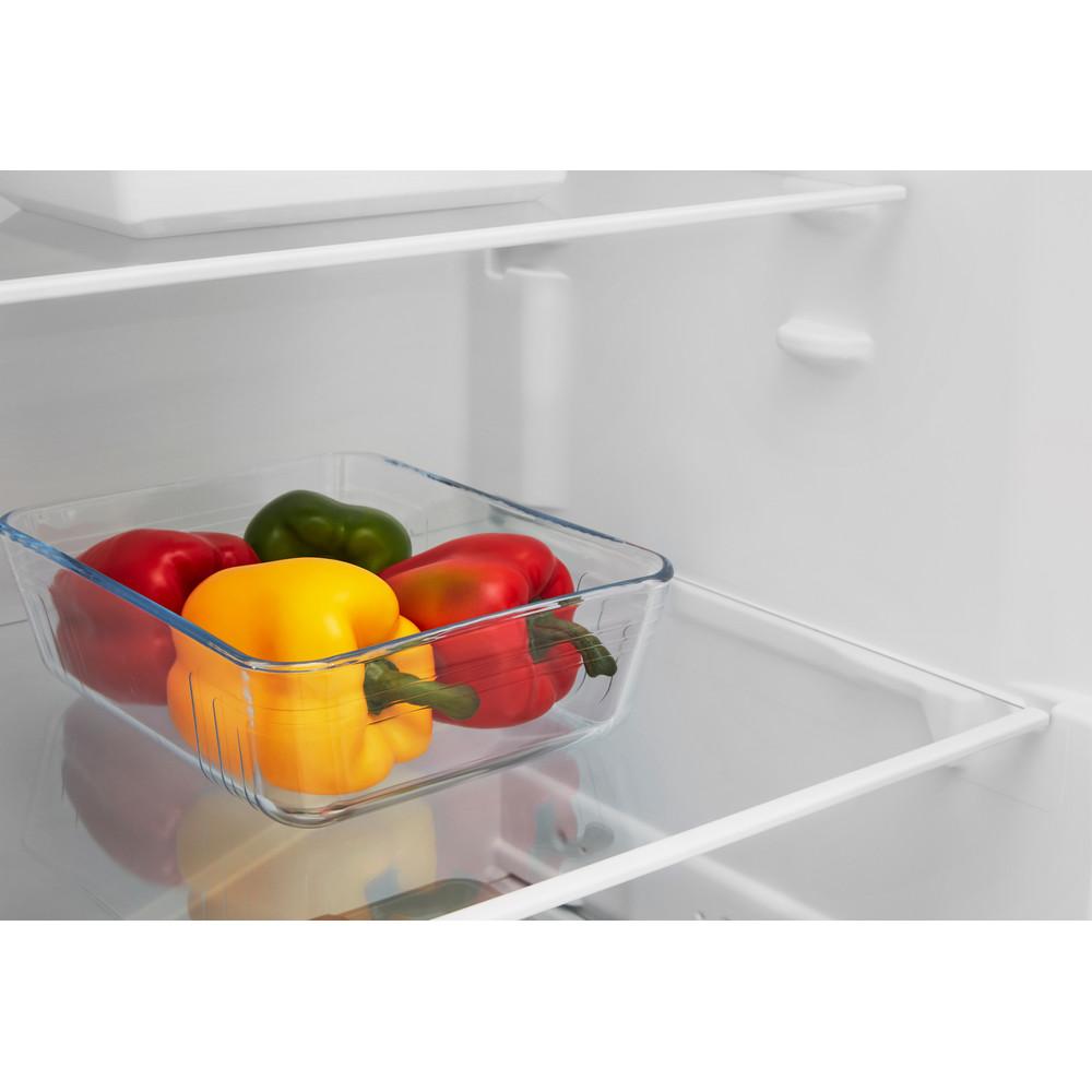 Indesit Réfrigérateur Pose-libre SI6 1 W Blanc Drawer