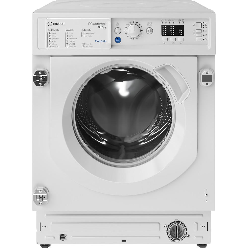 Indesit Washer dryer Built-in BI WDIL 861284 UK White Front loader Frontal