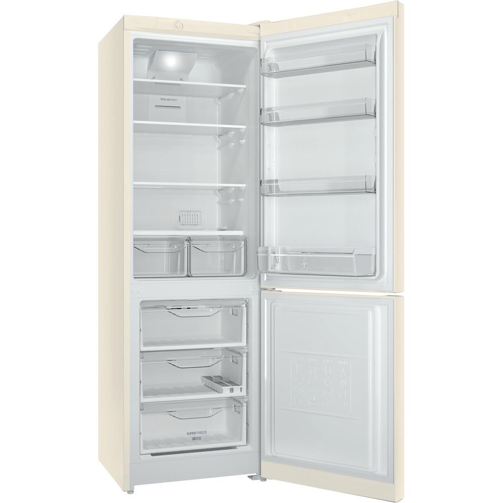 Indesit Холодильник с морозильной камерой Отдельностоящий DF 4180 E Розово-белый 2 doors Perspective open
