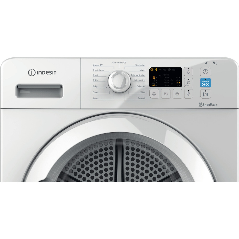 Indesit Dryer YT M10 71 R UK White Control panel