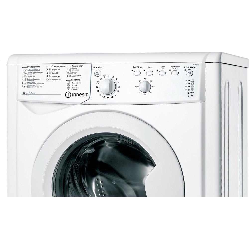 Indesit Стиральная машина Отдельностоящий IWSB 5105 (CIS) Белый Фронтальная загрузка A Control panel