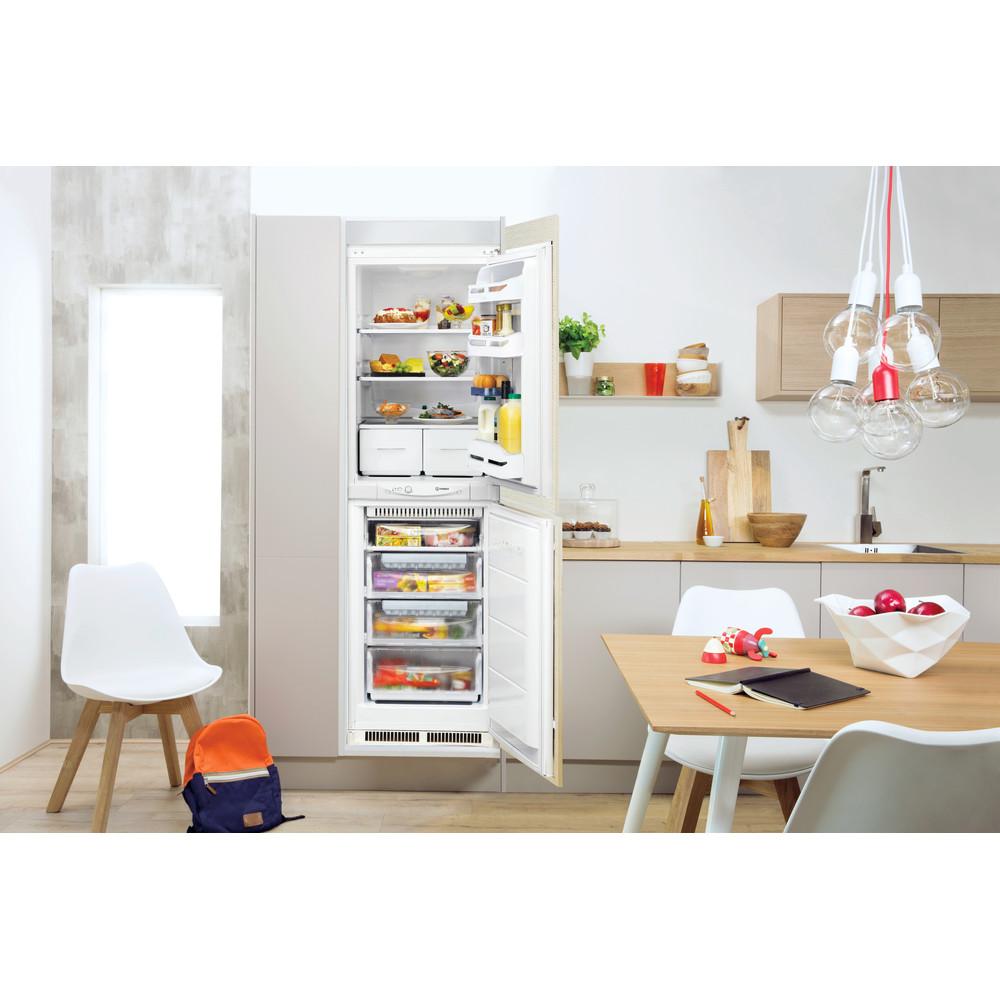 Indesit Fridge Freezer Built-in INC 325 FF 0 White 2 doors Lifestyle frontal open