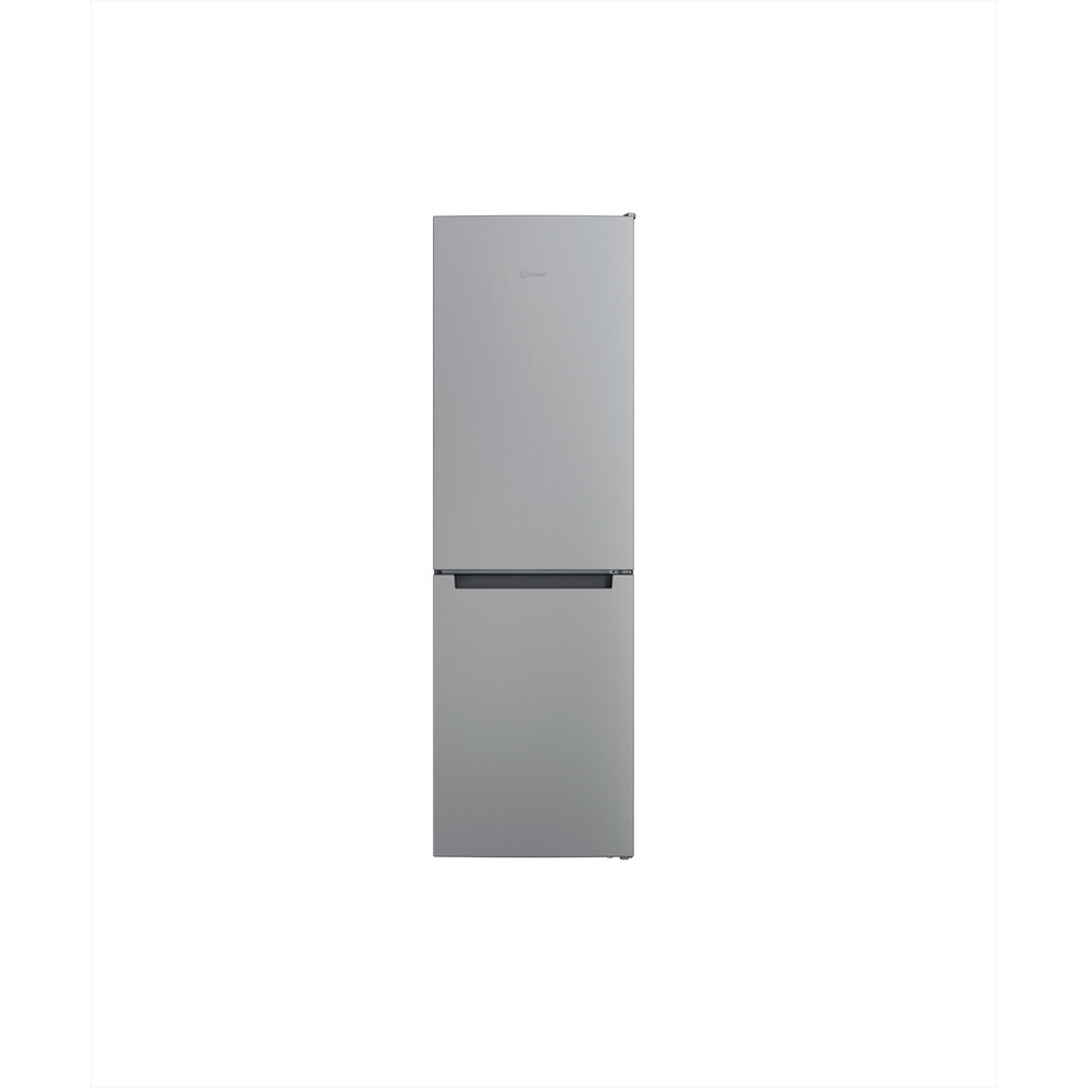 Indesit Køleskab/fryser kombination Fritstående INFC8 TI21X Rustfrit stål 2 doors Frontal