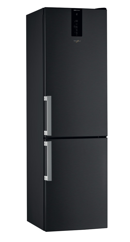 Whirlpool Fridge/freezer combination Samostojeća W9 931D KS H Black/Inox 2 vrata Perspective